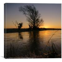 On Frozen Pond, Canvas Print