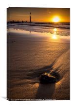 One stone on the beach, Canvas Print