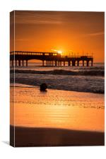 Sunrise over the pier, Canvas Print