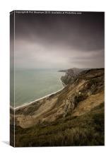 Worbarrow Cliffs, Canvas Print