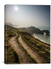 Clifftop Path, Canvas Print