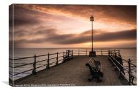 Swanage Sunrise, Canvas Print