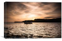 Cloudy at Kimmeridge, Canvas Print