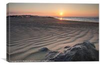 Sunrise at Sandbanks, Canvas Print