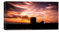 Sunset over the Chase, Canvas Print