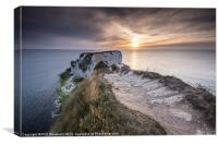 Sunrise at Old Harry, Canvas Print