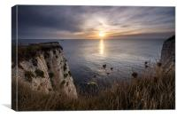 Sunrise from Ballard Down, Canvas Print