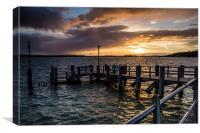 Sandbanks Ferry Sunset, Canvas Print