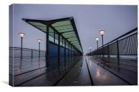 West Side Boscombe Pier, Canvas Print