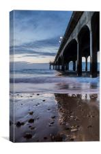 By the pier, Canvas Print