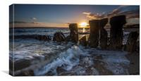 Lepe Sunset, Canvas Print