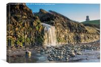 Kimmeridge Waterfall and Folly, Canvas Print