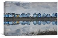 Huts at Hengistbury, Canvas Print