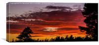 Sunset from Deerleap, Canvas Print