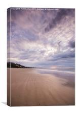 Canford Cliffs Beach, Canvas Print