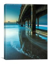 The Pier at Sunrise, Canvas Print