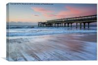 Waves on the beach, Canvas Print