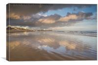 Reflecting on the beach, Canvas Print