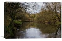 The Stour at Muscliffe, Canvas Print