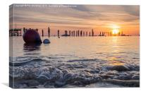 Sunrise at Swanage Pier, Canvas Print
