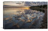 Shoreline Relections, Canvas Print