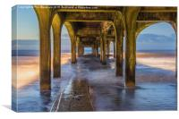Under the pier at Boscombe, Canvas Print