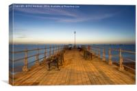 On the Banjo at Swanage, Canvas Print