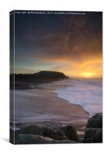 Sunrise at Solent Beach, Canvas Print