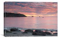 St Mary's Bay Sunrise, Canvas Print