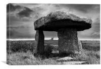 Lanyon Quoit, Ding Dong mine, Canvas Print