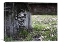 Holland Park scream, Canvas Print