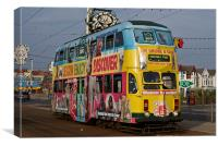 Blackpool Tram 711, Canvas Print
