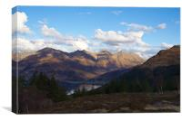 The Five Sisters Of Kintail, Canvas Print