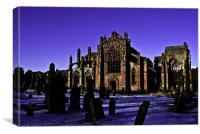 Melrose Abbey, Canvas Print