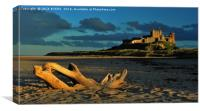 Bamborough Castle Sunset, Canvas Print