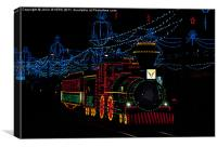Midnight Train, Canvas Print
