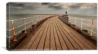 Whitby West Pier, Canvas Print