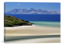 Rhum from the White sands of Morar., Canvas Print