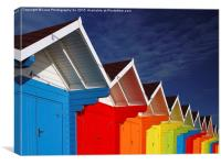 Beach Huts , Canvas Print