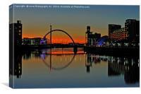 Glasgow Ark  (The Squinty Bridge), Canvas Print