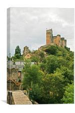 Chateau de Najac, Canvas Print