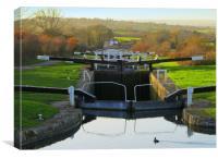 Caen Locks, Canvas Print