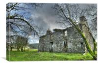 Old Farmhouse Ruins The Creggan, Canvas Print