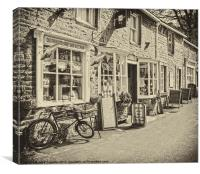 Old fashioned Sweet shop, Canvas Print