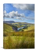 Looking Over Sulby Isle Of Man, Canvas Print