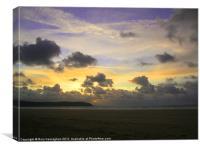 The Beach Tonight, Canvas Print