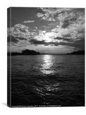 Zambezi in Sunset, Canvas Print