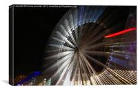 big wheel in motion, Canvas Print