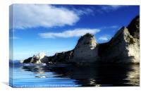 Cliffs Reflection, Canvas Print