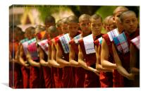 Buddhist Monks , Canvas Print